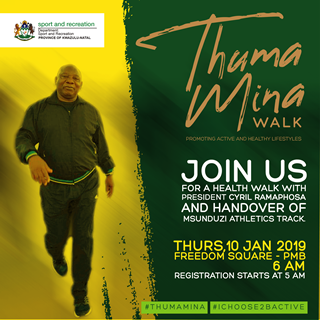 President Ramaphosa to participate in health walk and stadium handover in PMB