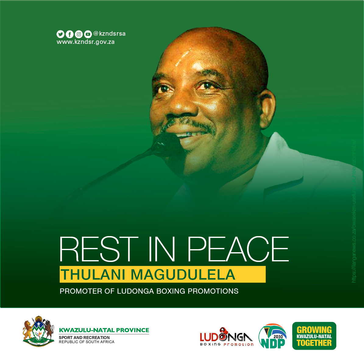MEC Express Condolences On Passing Of Thulani Magudulela