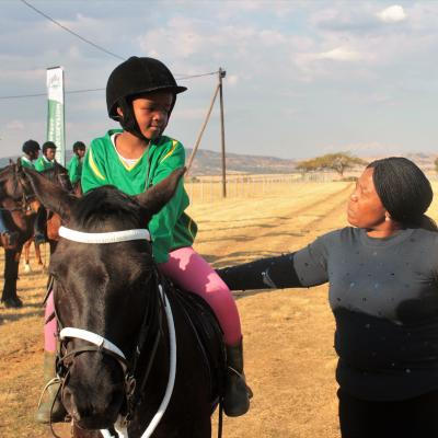 Anothe Buthelezi On Her Horse Blackberry